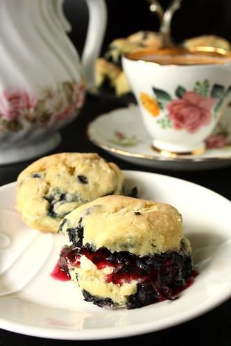 Lorraine's British Baking Powder Blueberry Tea Biscuits