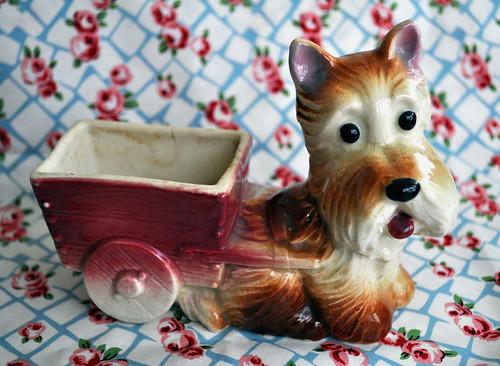 Vintage dog planter