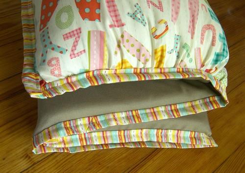Handmade Alphabet Nap Mat Cover