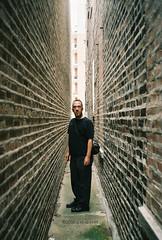 I Love-a My Leica! (ilovecoffeeyesido) Tags: leica portrait film analog 35mm alley brickwalls 35mmfilm 100iso sooc leicaafc1