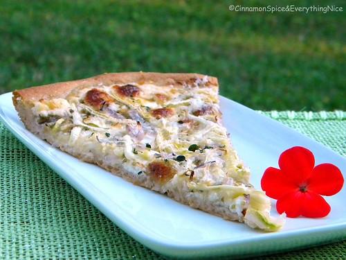 White Focaccia Pizza with Zucchini