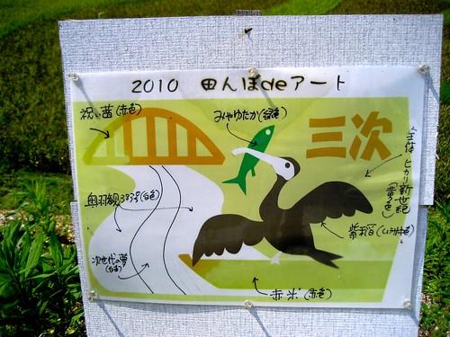 三次 田んぼアート 画像4