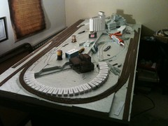 Roadbed on the layout!