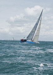 Solent - Force 6 to 7 (flavius200) Tags: sea sailing yacht crew solent roxy handicap beaufort sloop raceing wales1 lx3 panasoniclx3 flavius200 irl36000