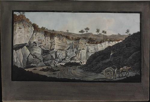 Plate 8, stratum of lava