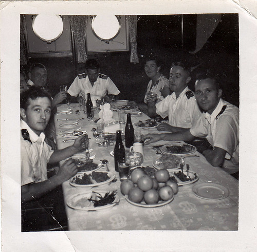 """Venture 1956"" Royal Navy officers dining."