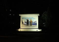 Night Mural in Wonsan North Korea (Ray Cunningham) Tags: noche kim nacht nuit notte province northkorea  dprk   ilsung jongil wonsan kangwn   wnsan northkoreanphotography raycunninghamnorthkoreanphotography dprkphotography