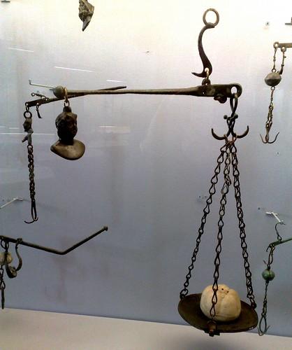 Roman Steelyard Balance or Statera  Musée d'Archéologie National Paris