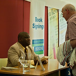 Gary Younge signing books