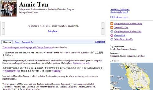 Google Online Profile Annie Tan