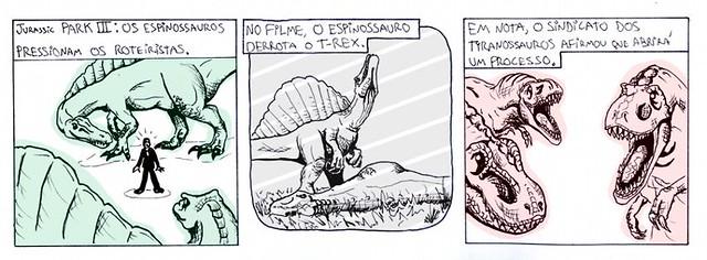tirinha espinossauro