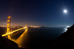 (jonmartin ()) Tags: sanfrancisco california travel sky usa moon nature ecology night america stars dawn us twilight scenery skies unitedstates unitedstatesofamerica fisheye goldengate orion vista northamerica environment activity environmentalism constellation activities ecosystem cvkc