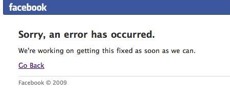Creating Facebook application error