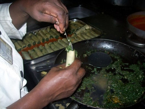 chef richard in burundi cooking greek-inspired food by me