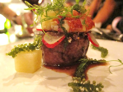 Surf and Turf Wagyu and Lobster at Tippling Club