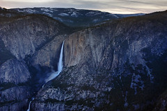 Yosemite Falls from Glacier Point (matthewkaz) Tags: california mountains yosemitefalls water waterfall nationalpark yosemite yosemitenationalpark sierranevada glacierpoint 2010