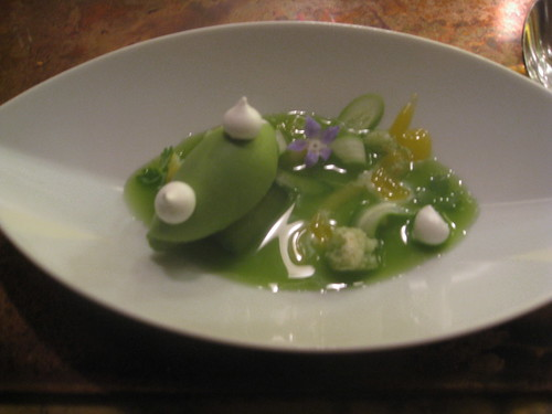 Avenues, Chicago, August 2010 - Spring cucumber, olio verde jam, Buddha's hand, and African blue basil