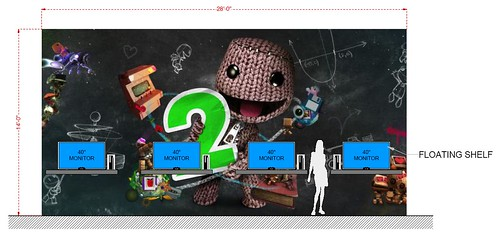 LittleBigPlanet 2 at PAX: Booth concept image