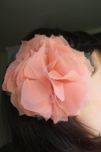 Chiffon and Tulle Fabric Flower Tutorial