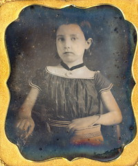 A Girl and Her Purse (Mirror Image Gallery) Tags: rural daguerreotype victoriangirl vintagepurse victorianchildren ruralamerican ruralvictorian