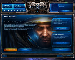 Starcraft II: Wings of Liberty start screen