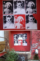 (mister nothing) Tags: urban streetart chattanooga poster screenprint decay wheatpaste silkscreen posters horror 423 zero graffitialley