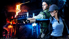 Chris & Jill Aiming UPDATE (AGEN_BOOMBERSMITH) Tags: chris hot toys action jill 5 albert evil valentine figure resident redfield wesker