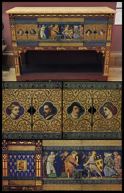Cabinet - William Burges - collage