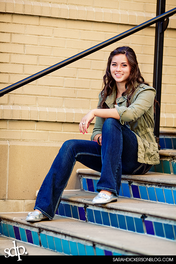 Kansas City Country Club Plaza senior portraits