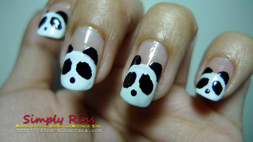Nail Art Panda 02
