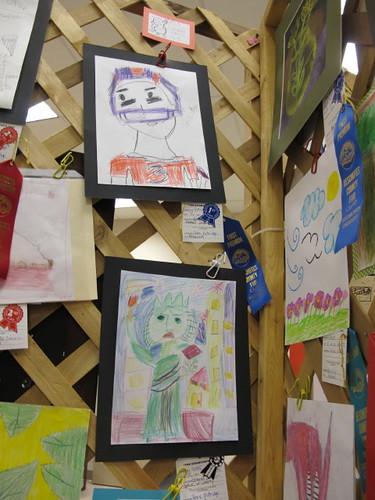 Hot Rod & Lil' Mermaid's Colored Pencil Fair entries