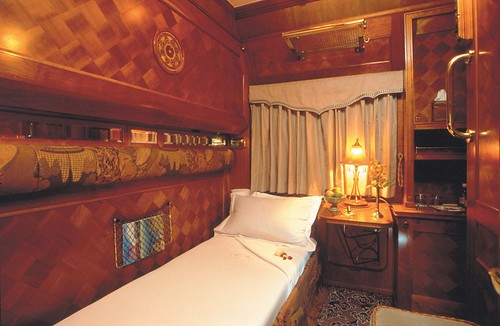 Pullman cabin, by night - Eastern Oriental Luxury Train