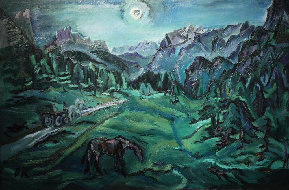 Oskar Kokoschka, Tre Croci – Dolomitenlandschaft [Tre Croci – Dolomite Landscape], 1913