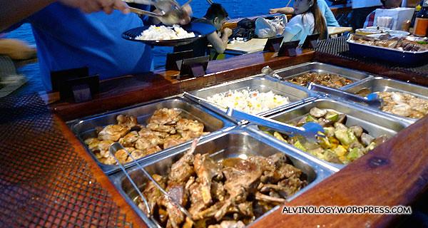 The buffet serving