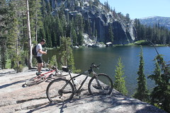 Bikepacking in Meiss area, July 2010 (acyee) Tags: camping tahoe mountainbiking roundlake tahoerimtrail cutthroattrout acyee bikepacking meiss dardanelleslake