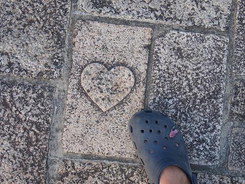 松江市 ハートマークの石畳
