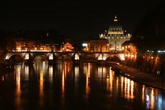 Roma=amoR (g) Tags: light roma amor basilica ponte tevere luci sanpietro riflessi notte