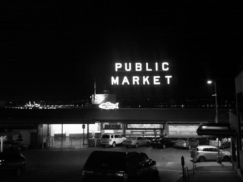 Public market, night