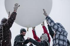 Balloon Launch (Valparaiso University) Tags: snow storm weather meteorology 2011 photobywilliamliu meteorologydepartment