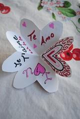 opened heart card