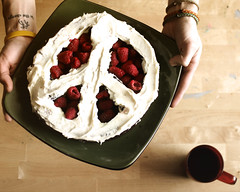 C is for Cake (and Coffee!) (Boy_Wonder) Tags: coffee cake vegan peace joel 365 raspberries peacefulfood