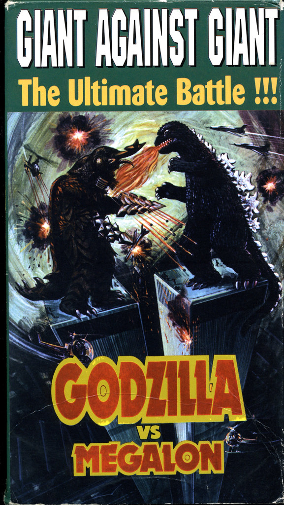 Godzilla vs Megalon (VHS Box Art)