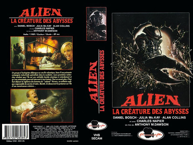 Alien, Creature Of The Abyss (Cover 2) (VHS Box Art)