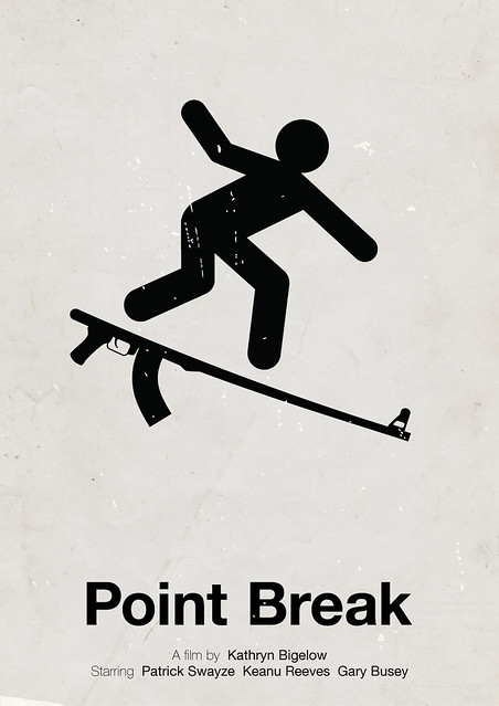 'Point Break' pictogram movie poster