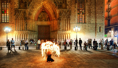 Ensnared in Flame (Stuck in Customs) Tags: world barcelona street city travel urban espaa art history tourism architecture digital mall fire photography blog dance high spain community europe mediterranean dynamic stuck district crowd central culture catalonia medieval historic september neighborhood photoblog flame larambla software artists processing imaging lasramblas range hdr tutorial trey cultural attraction travelblog customs 2010 rambla laramblas ratcliff ensnared reinodeespaa hdrtutorial stuckincustoms treyratcliff photographyblog stuckincustomscom nikond3x soetop50spotsfordaydreamers