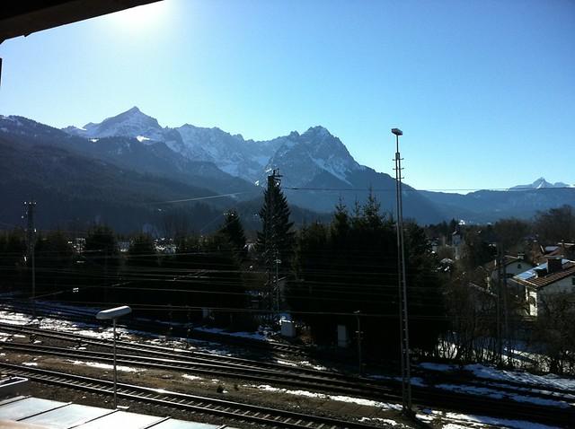 Ausblick von der Hofa Garmisch - Ski-WM Tag 4