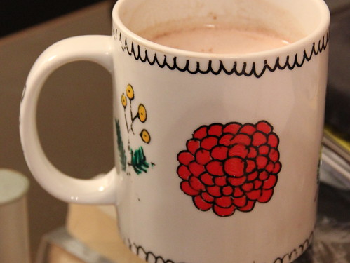 Handpainted flower mug