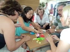 Bazar de Natal no Project Home 2010 (Dona Lola Crafteria - coisas fofas de pano) Tags: natal origami artesanato oficina patchwork alessandra bazar kutomi
