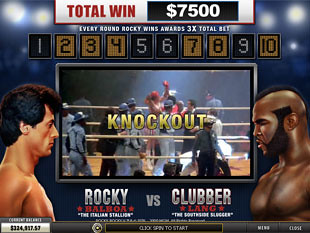 free Rocky slot bonus game 1