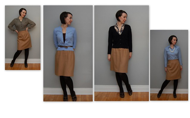 Brown skirt collage